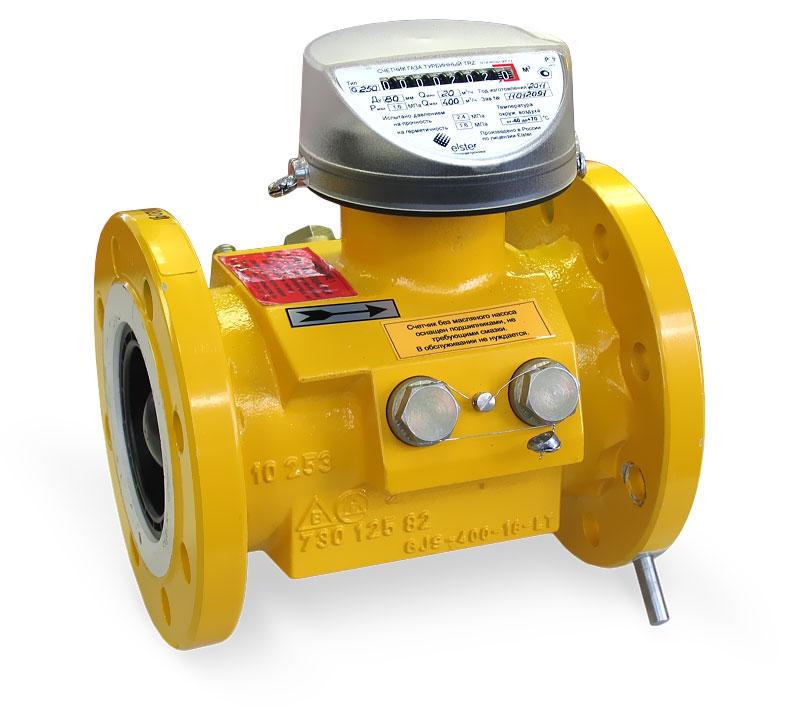 Турбинный счетчик газа TRZ G2500/6,3 Рmax=63кгс/см2; Ду=250 мм